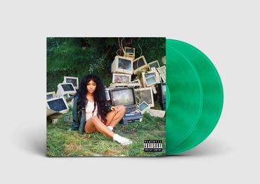 Sza green vinyl mockup