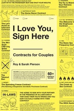 I love you  sign here book