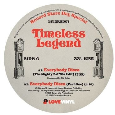 Timeless Legend - Everybody Disco / I Was Born To Love You - 12
