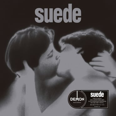 Suede mockup silver cover sticker