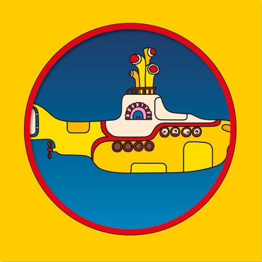 The beatles yellow submarine picture disc cover art
