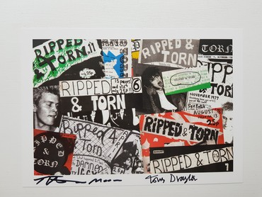 Ripped and torn signed print 2