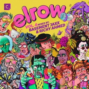 Various artists   basement jaxx   elrow vol. 4 mixed by basement jaxx   richy ahmed   cdc2ld79 1000x1000