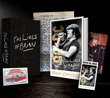 Brian Johnson - The Lives Of Brian - Back From Black Edition - Hardback+ – Rough Trade