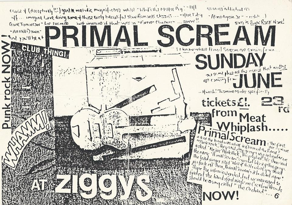Primal scream ziggys flyer